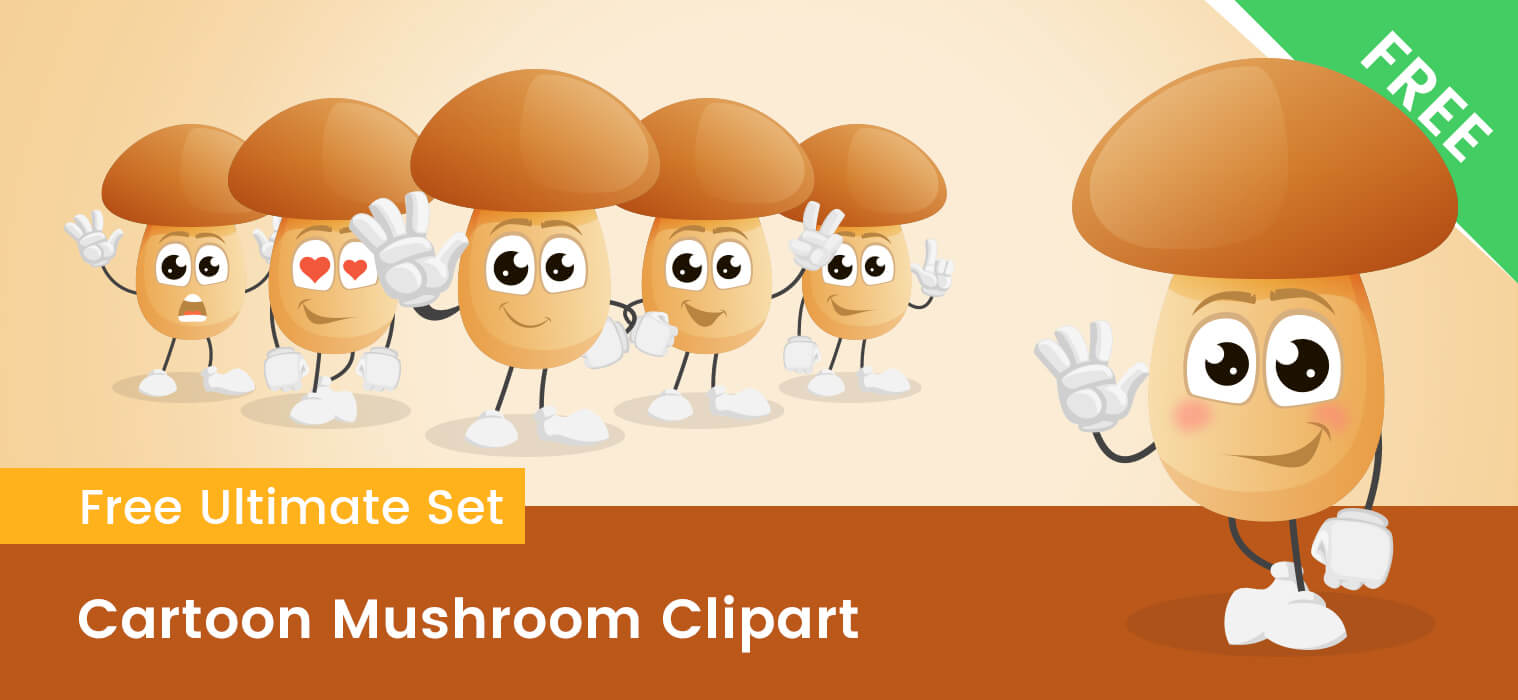 Cartoon Mushroom Clipart