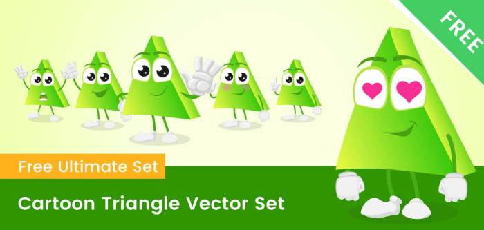 Cartoon Triangle Vector Set