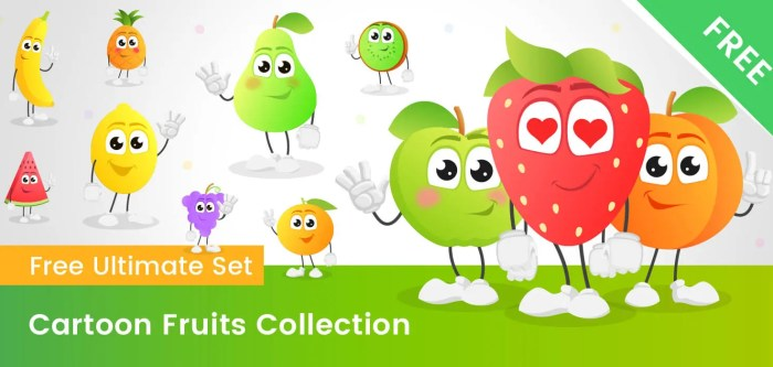 Fruit Vector Cartoon Free Ultimate Collection