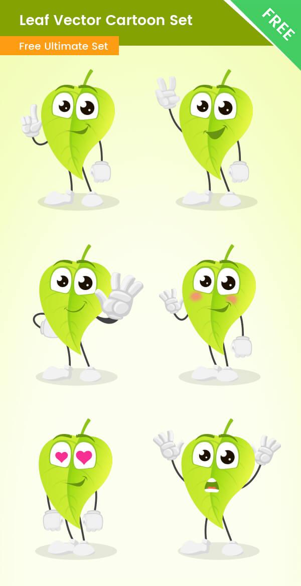 Leaf vector Cartoon Set