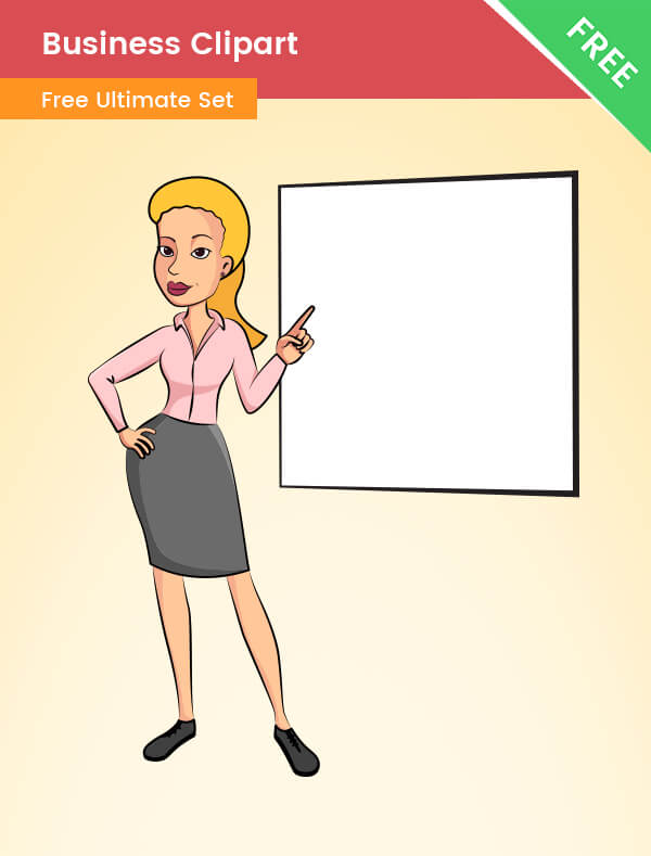 Business Clipart Image - Vector Business Clipart of a Business Woman