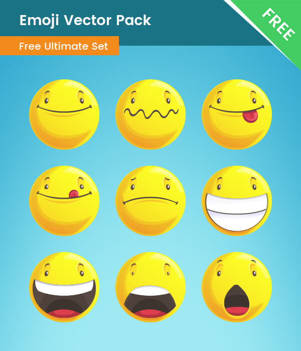 FREE Emoji Vector Pack