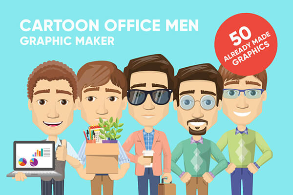 Male Cartoon Character Vector Creator