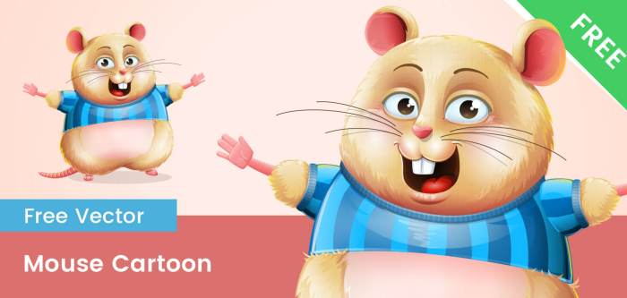 Free Cute Mice Vector Character