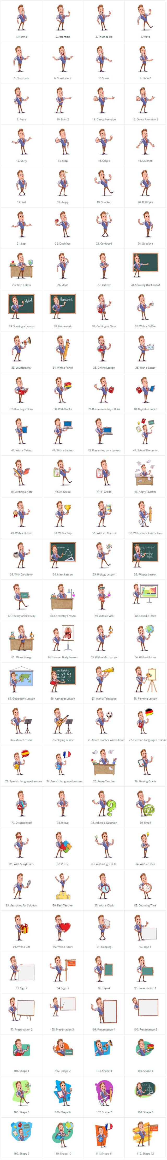 Cartoon Teacher Vector Character