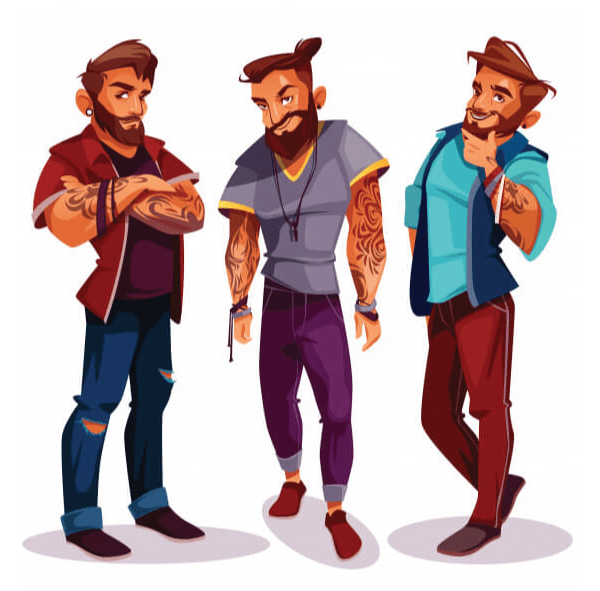 Really Good Character Design Idea - 3 Strong Male Characters