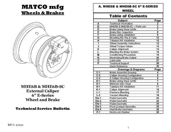 MHE6B E SERIES Tech Manual, REV L