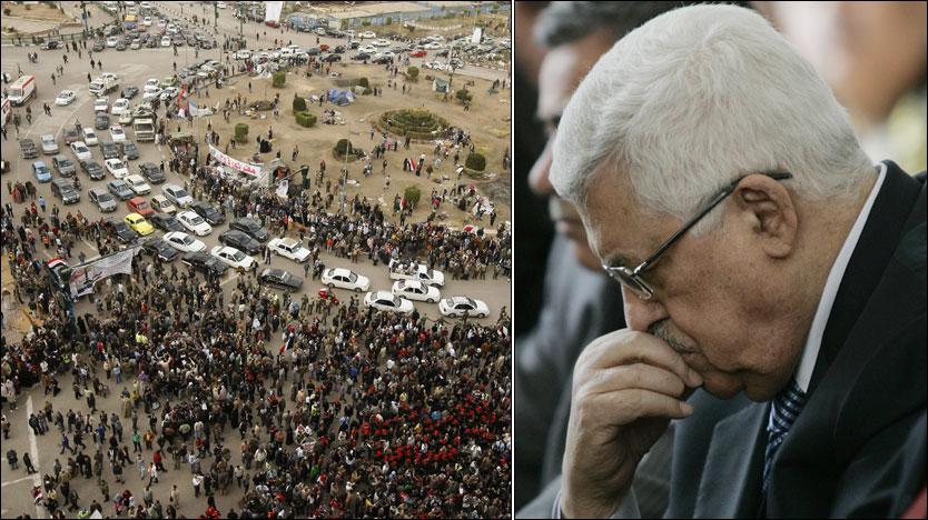 ØNSKER ENDRINGER: Den palestinske presidenten Mahmoud Abbas tar konsekvensene av de politiske omveltningene i Egypt. Foto: AFP/AP
