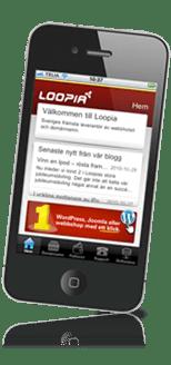 Loopia i mobilen