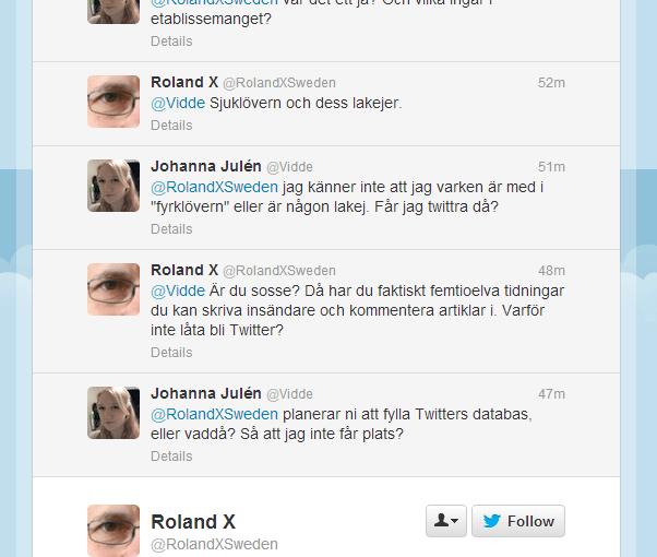 Idag har jag pratat med en sverigedemokrat