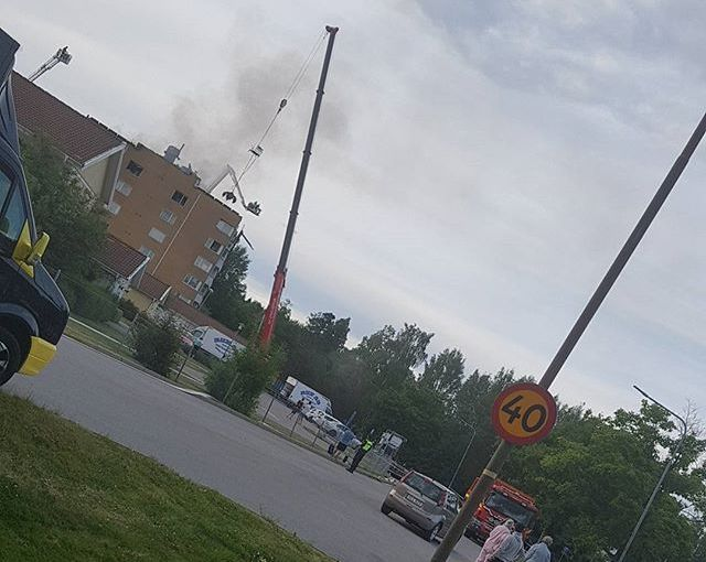 Bilder efter branden på Stockrosvägen