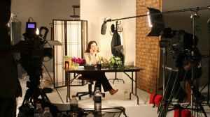 studio setup youtuber videomaker camera bedroom podcast lighting lights computer editing led screen