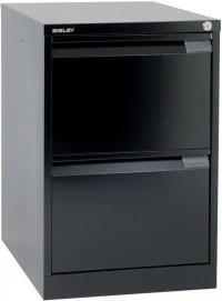 Bisley steel Filing Cabinet Foolscap 2 Black | Viking ...