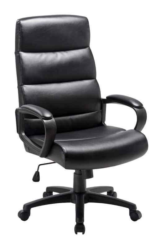 office chair uk wicker swing chairs seating viking direct niceday malaga executive black