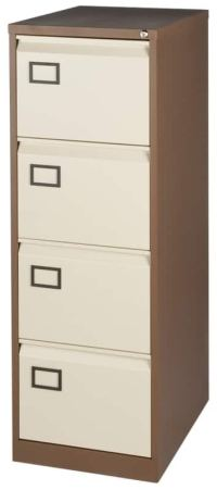 Realspace Pro Four drawer filing cabinet - coffee / cream ...