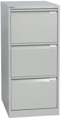 Bisley Steel Filing Cabinet Foolscap 3 Grey   Viking Direct IE