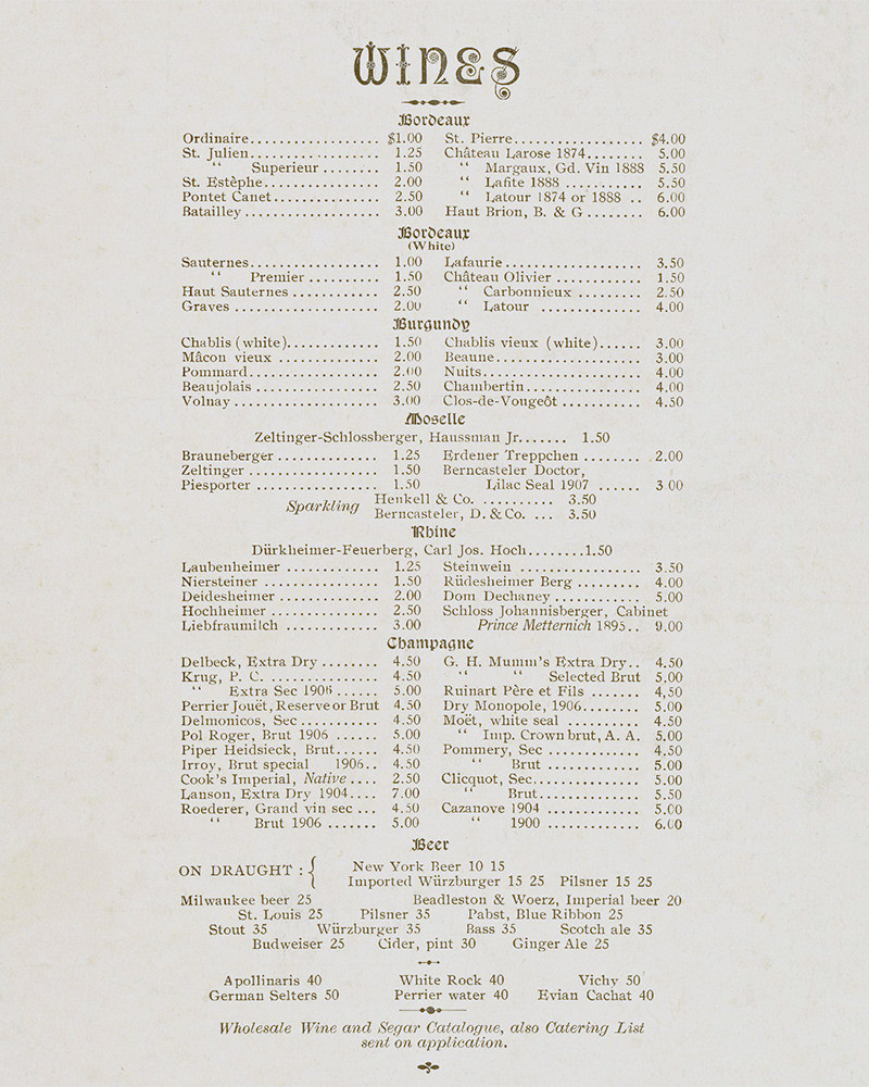 Two Centuries Of Restaurant Menus Reveal New Yorks