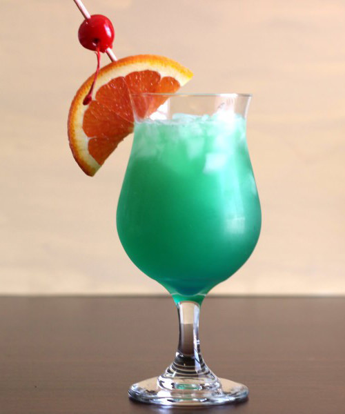Shamrock Juice St. Patrick's Day Cocktail with gin, vodka, tequila, and blue curacao for a party