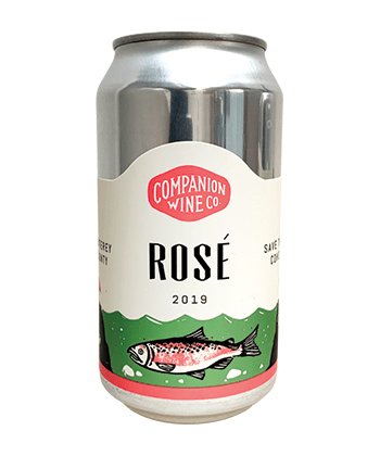 Companion Wine Co. Rosé 2019 is one of the best canned wines for Summer 2020