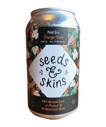 Old Westminster Winery 'Seeds & Skins' Pinot Gris Orange Wine is one of the best canned wines for Summer 2020