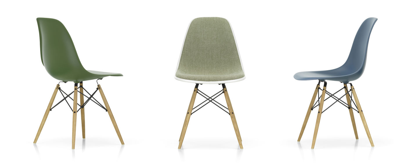Its seat and back are molded to fit the contours of every body, and its attached rubber mounts allow the chair to flex and shift. Vitra Eames Plastic Side Chair Dsw Offizieller Vitra Online Shop
