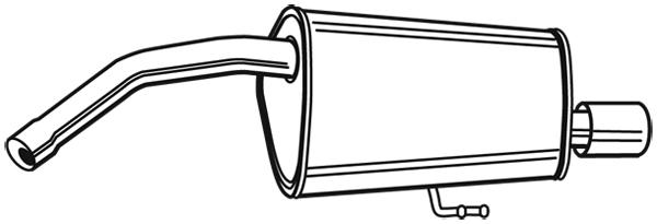 Silencieux arrière pour ALFA ROMEO 156 (932) 2.5 V6 24V