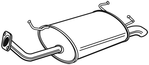 Silencieux arrière pour NISSAN PRIMERA (P11) Hatchback 1.6