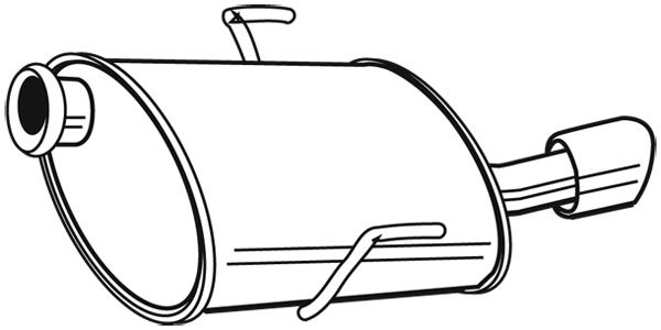 Silencieux arrière pour PEUGEOT 406 Coupé (8C) 2.0 16V