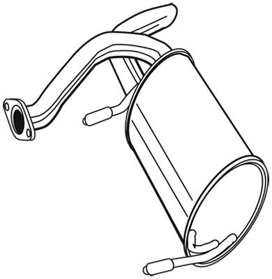 Silencieux arrière pour RENAULT KANGOO Express 1.6 16V 4x4