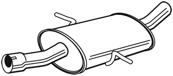 Silencieux arrière pour MERCEDES-BENZ CLASSE A (W169) A