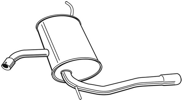 Silencieux arrière pour SEAT ALTEA XL (5P5) 1.9 TDI 105CV