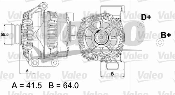 Alternateur échange standard pour FIAT PUNTO (188) 1.3 JTD