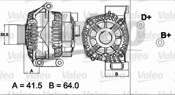 Alternateur échange standard pour FIAT FIORINO QUBO 1.3 D
