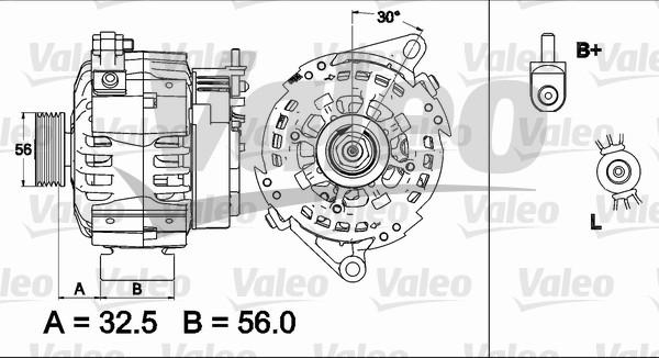 Alternateur échange standard pour ROVER SERIE 200 MkIII