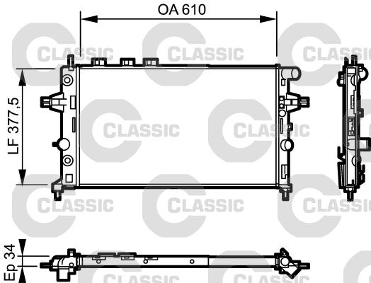 Radiateur du moteur pour OPEL ASTRA G Berline (F69_) 1.7
