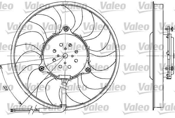 Ventilateur, refroidissement du moteur pour AUDI A4 (B6) 1