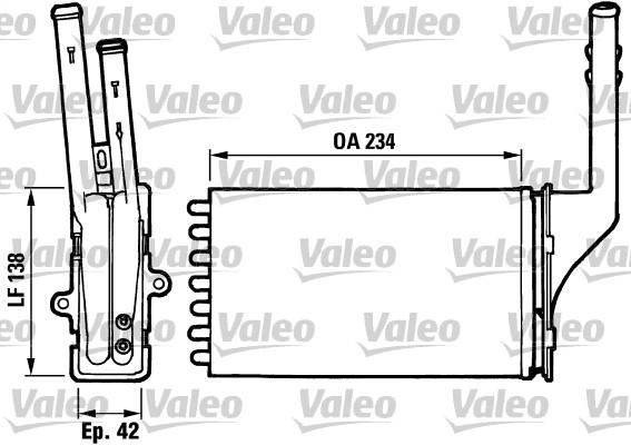 Radiateur de chauffage pour CITROËN SAXO (S0, S1) 1.5 D