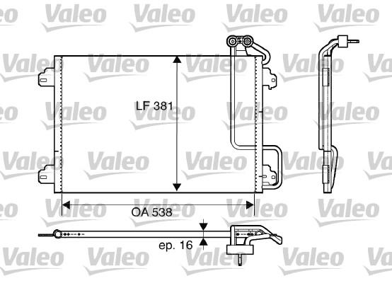 Condenseur, climatisation pour RENAULT MEGANE Scenic I