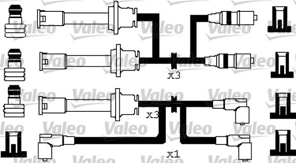 Jeu de fils d'allumage pour ALFA ROMEO 164 (164) 2.0 V6