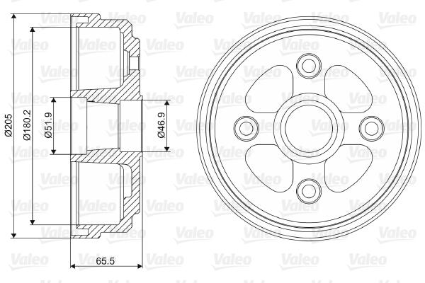 Tambour de frein unitaire pour SUZUKI ALTO III (EF) 1.0