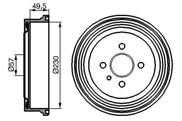 Jeu de 2 tambours de frein pour OPEL ASTRA G 3/5 portes