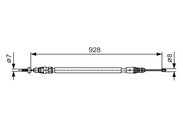 Câble de frein à main pour CITROËN C4 Picasso 1.6 HDi