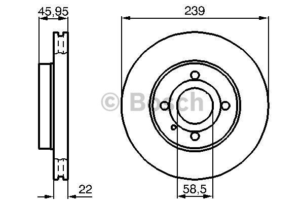 Jeu de 2 disques de frein avant pour ALFA ROMEO 33 (907