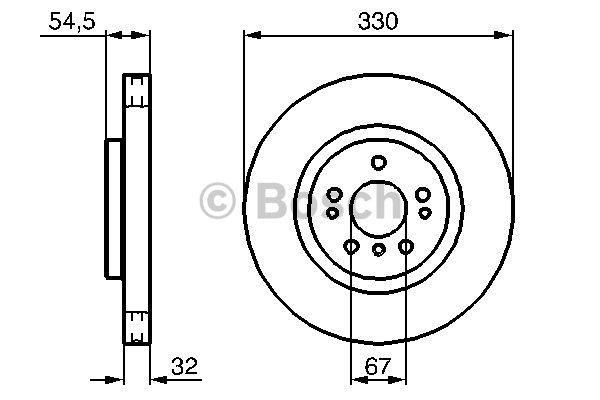 Jeu de 2 disques de frein avant pour MERCEDES-BENZ CLASSE