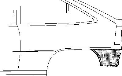 Panneau latéral pour OPEL KADETT E 3/5 portes (33_, 34