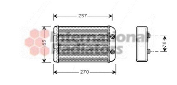 Radiateur de chauffage pour FIAT STILO (192) 1.9 JTD (192