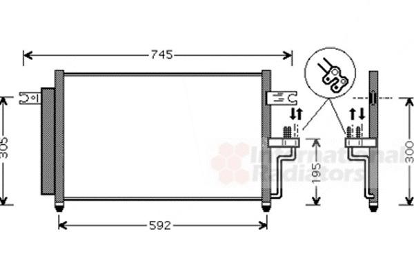 Condenseur, climatisation pour HYUNDAI ACCENT II (LC) 1.5