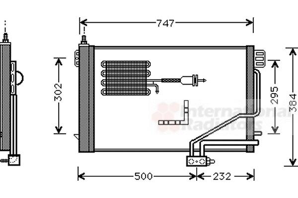 Condenseur, climatisation pour MERCEDES-BENZ CLASSE C (203