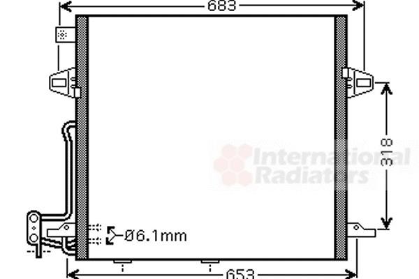 Condenseur, climatisation pour MERCEDES-BENZ CLASSE M