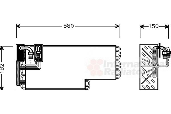 Evaporateur climatisation pour MERCEDES-BENZ CLASSE S (126